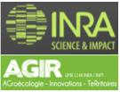 INRA, UMR AGIR AGroécologie, Innovations et TeRritoires.